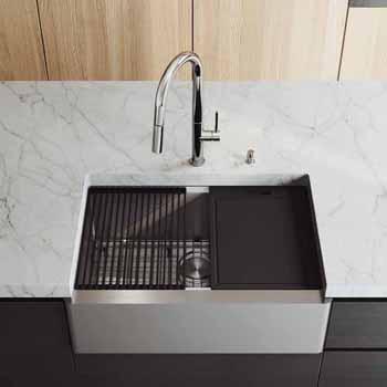 30'' Sink w/ Greenwich Faucet in Chrome