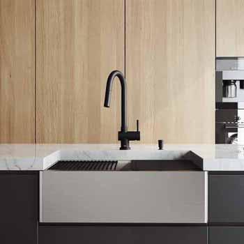 30'' Sink w/ Gramercy Faucet in Matte Black