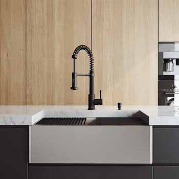 30'' Sink w/ Edison Faucet in Matte Black
