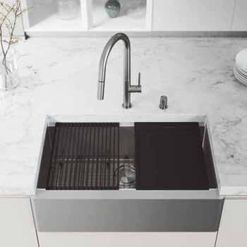 33'' Sink w/ Greenwich Faucet in Stainless Steel