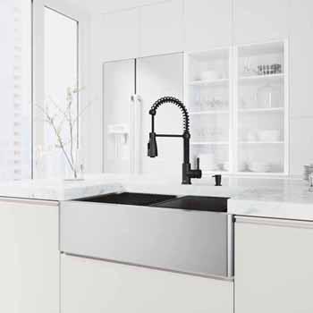 33'' Sink w/ Brant Faucet in Matte Black
