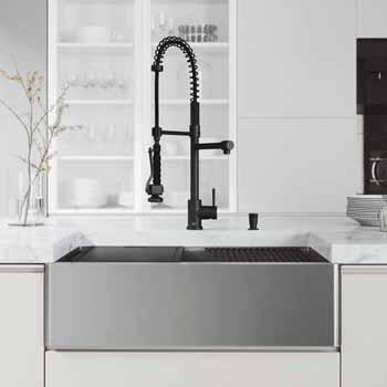 33'' Sink w/ Zurich Faucet in Matte Black
