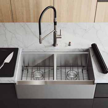 33'' Sink w/ Norwood Faucet in Stainless Steel