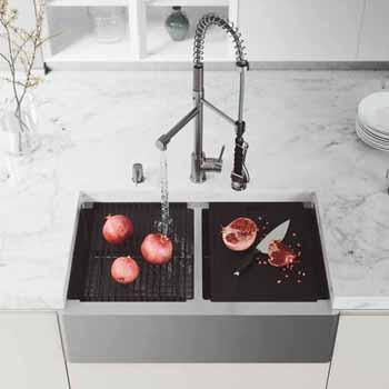 33'' Sink w/ Zurich Faucet in Stainless Steel