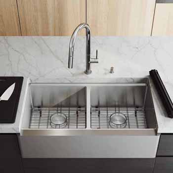 36'' Sink w/ Chrome Greenwich Faucet in Chrome
