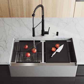 36'' Sink w/ Laurelton Faucet in Matte Black