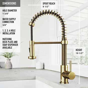 Edison Faucet in Matte Gold