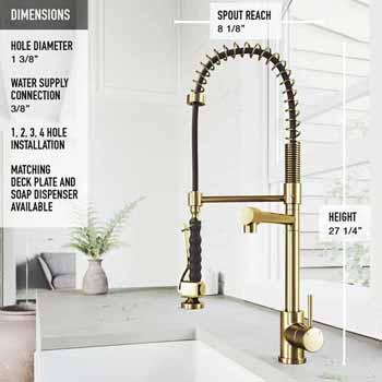 Zurich Faucet in Matte Gold