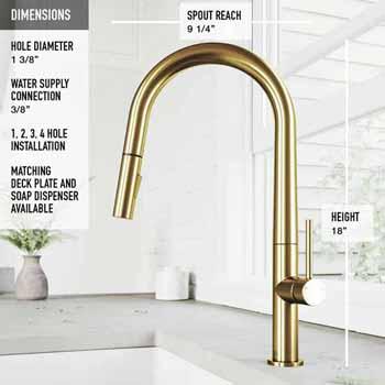 Greenwich Faucet in Matte Gold