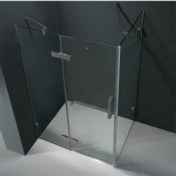 "Vigo 32"" x 48"" Frameless 3/8"" Clear/Brushed Nickel Shower Enclosure"
