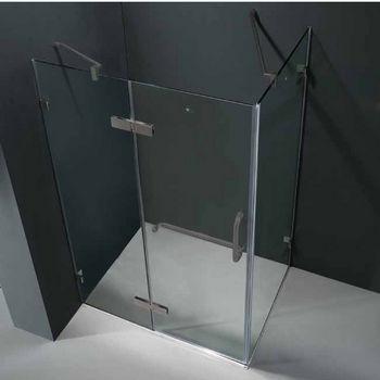 "Vigo 32"" x 40"" Frameless 3/8"" Clear/Brushed Nickel Shower Enclosure"