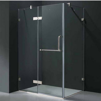 "Vigo 32"" x 48"" Frameless 3/8"" Clear/Chrome Shower Enclosure"