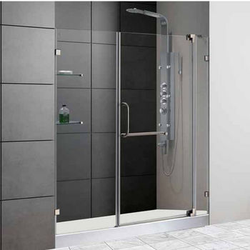 Vigo 60-Inch Frameless Shower Door
