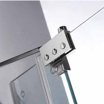 Vigo 36-Inch Frameless Shower Door