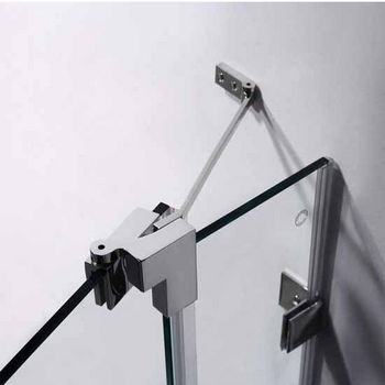 "Vigo 54-Inch Frameless Shower Door, 3/8"" Clear Glass Brushed Nickel Hardware"