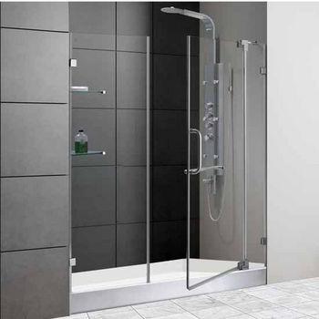 Vigo 60-Inch Frameless Shower Door