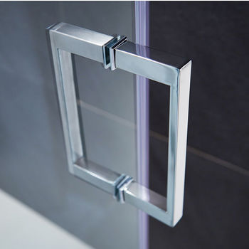 Vigo Ryland 48'' to 62'' Frameless Shower Door with 3/8'' Clear Glass and Stainless Steel