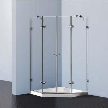 """Vigo Shower Enclosure with Low-Profile Base, 47 5/8"""" W x 47 5/8"""" L x 78 3/4"""" H"""
