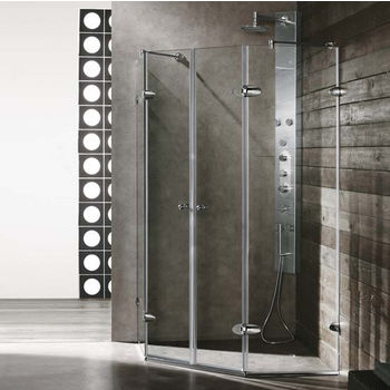 "Vigo Shower Enclosure, 45 5/8"" W x 45 5/8"" L x 73 3/8"" H"