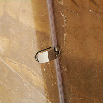 Vigo Tempo Adjustable Shower Door with Clear Glass