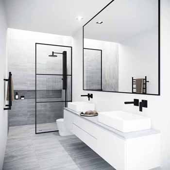 Divide Fixed Frame Shower Screen