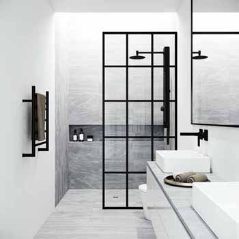 Mosaic Fixed Frame Shower Screen
