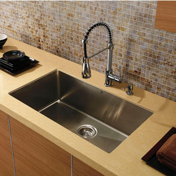 "32"" Undermount Stainless Steel 16 Gauge Kitchen Sink"