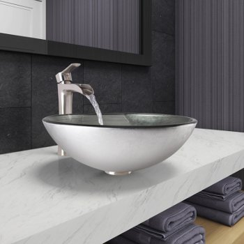 VGT1061 Sink Set w/ Niko Faucet Brushed Nickel