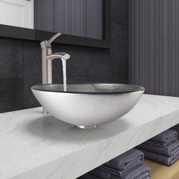 VGT1062 Sink Set w/ Milo Faucet Brushed Nickel