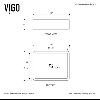 VGT1085MW Product Dimensions 2