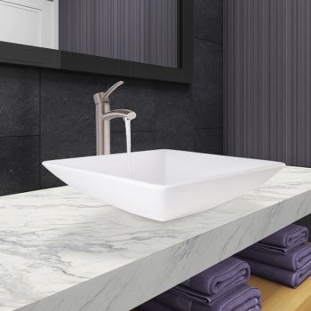 VGT1087BN Milo Faucet w/ Brushed Nickel Drain