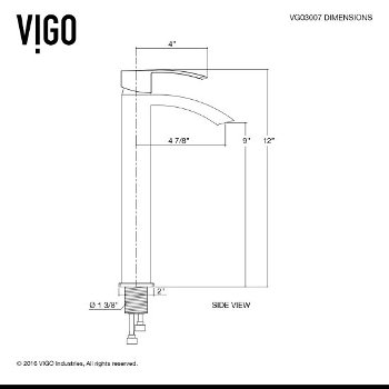 VGT1210 Faucet Specification