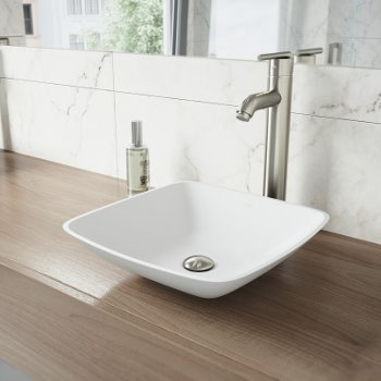 VGT1220 Sink Set w/ Seville Faucet Brushed Nickel