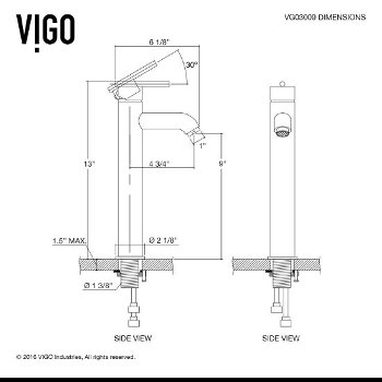 VGT1220 Faucet Specification