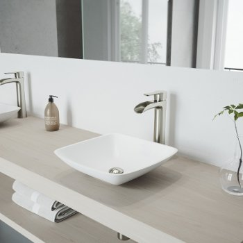 VGT1223 Sink Set w/ Niko Faucet Brushed Nickel