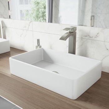 VGT1230 Sink Set w/ Duris Faucet Brushed Nickel