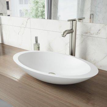 VGT1240 Sink Set w/ Seville Faucet Brushed Nickel