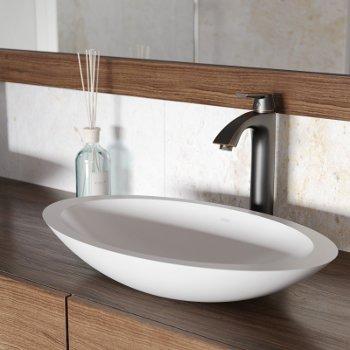 VGT1241 Sink Set w/ Linus Faucet Antique Rubbed Bronze