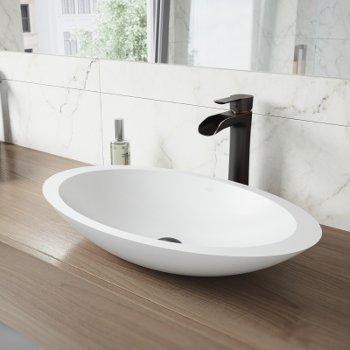 VGT1243 Sink Set w/ Niko Faucet Antique Rubbed Bronze