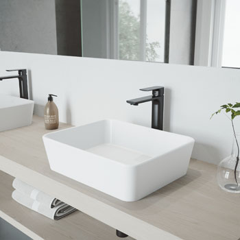Vigo Sink with Norfolk Faucet Lifestyle View 2