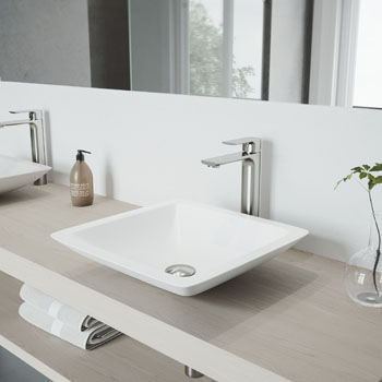 Vigo Sink with Norfolk Faucet Lifestyle View 2
