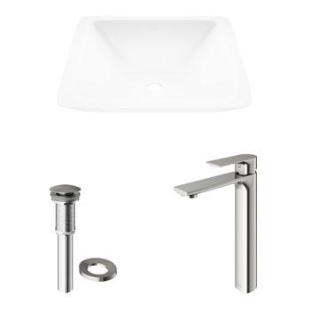 Vigo Sink with Norfolk Faucet Display View 2