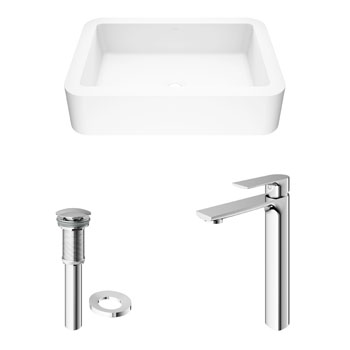 Vigo Sink with Norfolk Faucet Display View 2