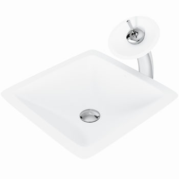 Vigo Sink with Waterfall Faucet Display View 1