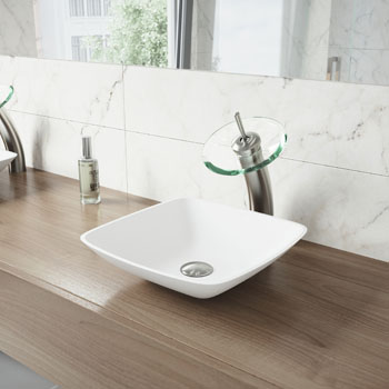 Vigo Sink with Waterfall Faucet Lifestyle View1