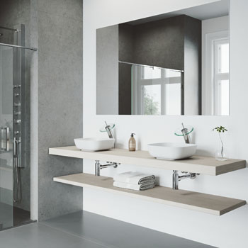 Vigo Sink with Waterfall Faucet Lifestyle View 1