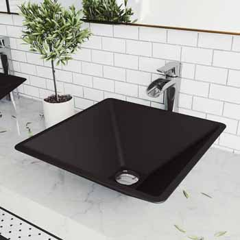 Sink & Niko Vessel Faucet Set in Chrome w/ Pop-Up Drain