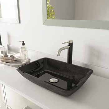 Sink & Lexington cFiber Vessel Faucet w/ Drain