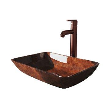 VGT1552 Sink Set w/ Seville Faucet Oil Rubbed Bronze