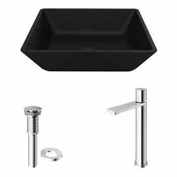 Sink & Gotham Faucet in Chrome w/ Pop-Up Drain